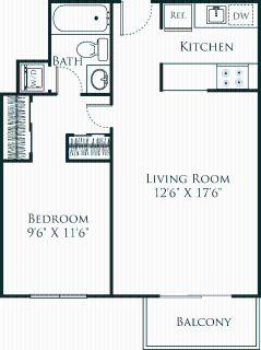 1 bedroom in Burlingame