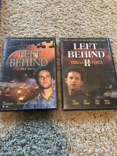 Left Behind 1 and 2 DVDs