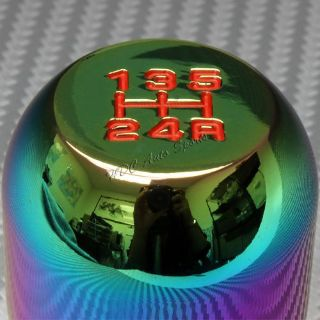 Find Neo Chrome 5-Speed Type-R Manual Aluminum Shift Throw Shifter Knob Universal 5 motorcycle in Walnut, California, United States