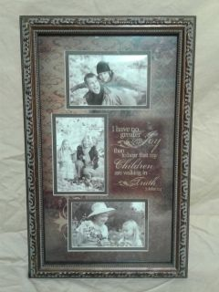 New picture frame with scripture 3 John 14. 19 inches tall. Meet in Angleton.