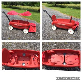 Radio Flyer Wagon, removable canopies & folding trunk, good condition **READ PICK-UP DETAILS BELOW