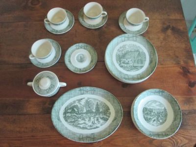 Set of Antique Dishes