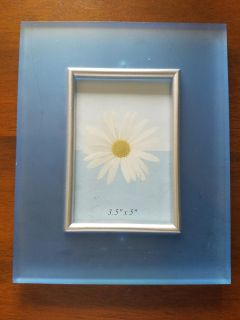 Blue 3 and 1/2 by 5 acrylic picture frame