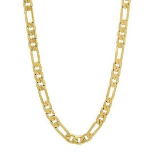 18K Gold Filled Chain Necklace Figaro Style 24""