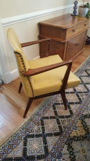 Vintage Mid-Century Modern Danish Style and Leather Chair