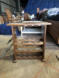 Small Wooden Table (Wine Rack?)