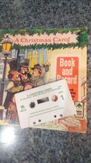 Christmas Carol book and cassette, dated 1977