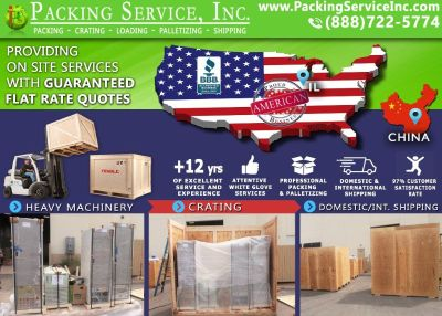 Packing Service, Inc. Chicago, IL Shipping Services and Palletizing Boxes