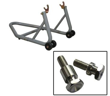 Purchase BikeTek Aluminum Silver Rear Kawasaki Stand with 12mm Aluminum Bobbin Spools motorcycle in Ashton, Illinois, US, for US $81.89