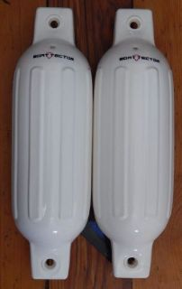 Find White Boat Fenders 5.5'' x 20'' set of 2 Bumpers Vinyl Warranty Ribbed New motorcycle in Davison, Michigan, United States, for US $24.95