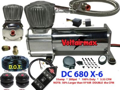 Sell VoltAirMax DC680C 200psi Air Compressor Suspension 3.53CFM w/7Switch/bags motorcycle in Mesa, Arizona, United States, for US $279.90