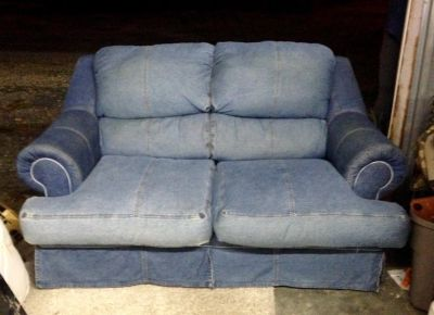 Denim Blue Jean Loveseat