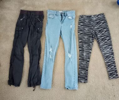 3 Girls Pants Lot Size 10