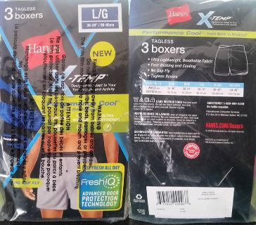 NEW Hanes Boxers, Lg: 2 packages