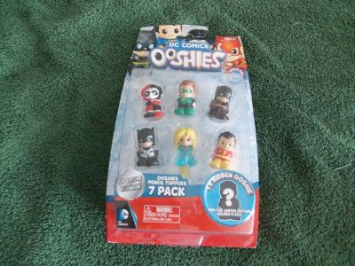 dc comics ooshies series one 7 pack pencil toppers action figures