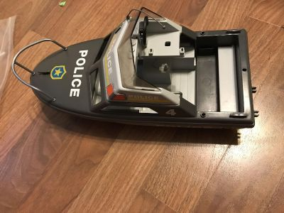 Playmobile police boat with wave runner