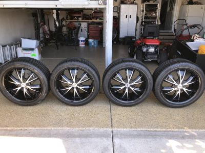 4 20 inch universal tires with rims