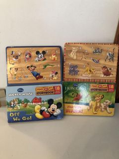2 Disney find and fit books