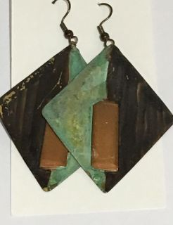 Vintage Abstract Artisan Earrings