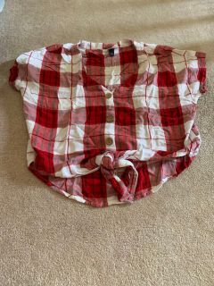 Plaid shirt. Worn once. Size S.