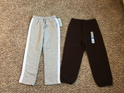 Cat & Jack & Garanimals Sweatpants. Grey Pair Adjustable Waist. Grey/White & Brown. Size 5t. Brand New with Tags.