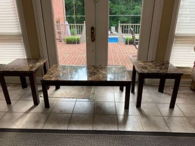 Set of three tables