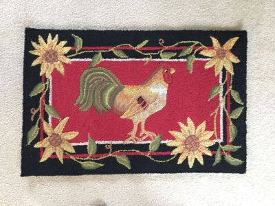 Rooster Kitchen Rug