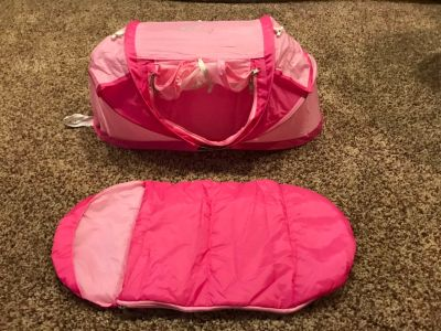 18 Doll sleeping bag and tent
