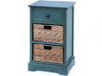 Woodcraft Life Style Cabinet With Wicker Baskets