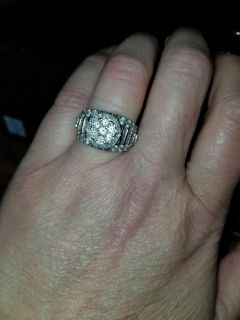 2ctw diamond and Sterling silver ring