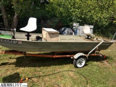 For Sale: 14ft Jon boat with trailer