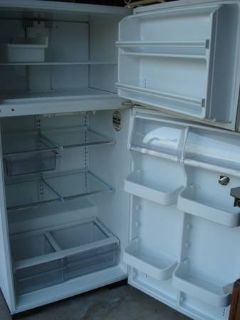 WHITE FRIGIDAIRE FRIDGE W/TAPPER HANDLE AND ACCESSORIES