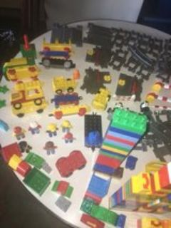 LEGO GROUP DUPLO COMPLETE TRAIN SET TRACKS AND BRICKS LARGE LOT