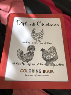 Difficult chickens coloring book - new