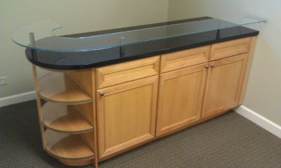 CABINET----BAR with GLASS / GRANITE Top --- CABINETRY