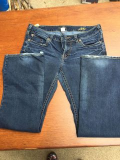 Silver Aiko jeans size 14, 33 length