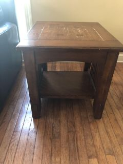 2 end tables and one larger table