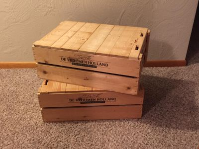 Two Available Wood Crates
