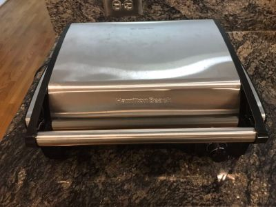 New Hamilton Beach Stainless Indoor Non-stick Grill