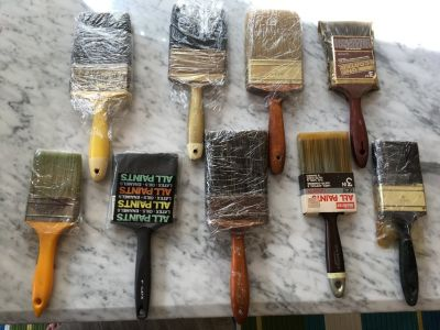 """Paint Brushes - 3"""" and 4"""" (9 total)"""