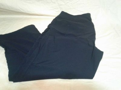 Women's black pants. Size 24 regular. Rayon/spandex/nylon. Meet in Angleton.