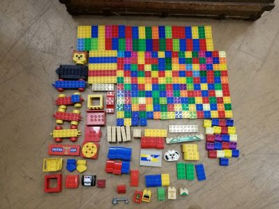 230+ Lego Duplo asst pieces incl cars faces misc