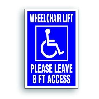 Sell Magnetic Sign Extra Large Handicap WHEELCHAIR LIFT 8' access disability van 410X motorcycle in Mentor, Ohio, United States, for US $25.98