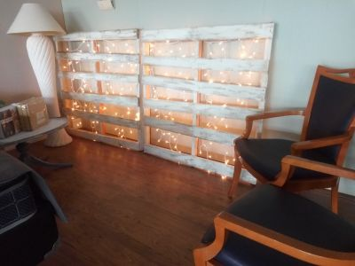 Rustic painted LIGHTED PALLET SET