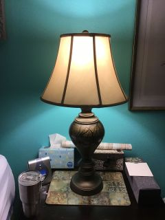 2 Bronze Table Lamps