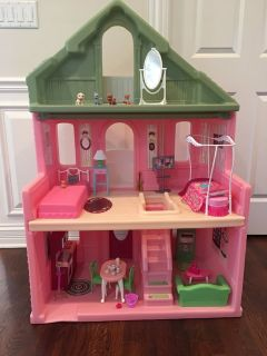 Durable Step2 Grand Balcony Dollhouse for Barbie Dolls - Filled with Furniture & Accessories