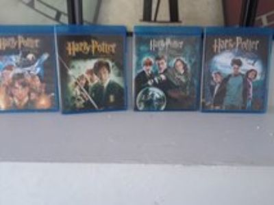 4 BLU RAY Harry Potter Movies