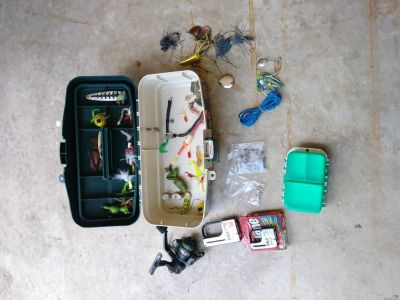 Lures and reel
