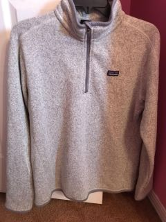 Woman s grey Patagonia pullover