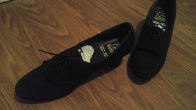 Womens Leather Dance Shoes tic tactics toes Brand 9N Excellent Condition